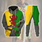 Gearhomies Tracksuit Hoodies Pullover Sweatshirt Sir William Marshal Historical 3D Apparel
