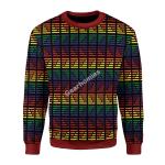 Merry Christmas Gearhomies Unisex Christmas Sweater LGBTQ+ Flag Stripes 3D Apparel
