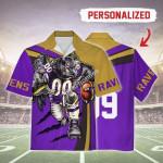 Gearhomies Personalized Unisex Hawaiian Shirt Baltimore Ravens Football Team 3D Apparel