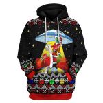 Gearhomies Unisex Tops Pullover Sweatshirt Funny Alien UFO 3D Apparel