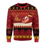 Merry Christmas Gearhomies Unisex Christmas Sweater German Flag Through the Snow 3D Apparel