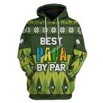 Gearhomies Unisex Tops Pullover Sweatshirt Best Papa By Par 3D Apparel