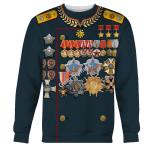 Gearhomies Unisex Sweatshirt Georgy Zhukov Soviet General and Marshal Of The Soviet 3D Apparel