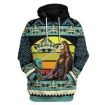Gearhomies Unisex Tops Pullover Sweatshirt Holographic Alien & Sasquatch But Stuff 3D Apparel