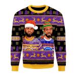 Merry Christmas Gearhomies Unisex Christmas Sweater Basketball 3D Apparel