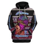 Gearhomies Personalized Name Hoodie A Queen Was Born In September 3D Apparel