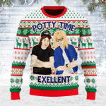 Merry Christmas Gearhomies Unisex Ugly Christmas Sweater Potty Time Exellent 3D Apparel