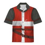 Gearhomies Unisex Hawaiian Shirt Knight Hospitaller Historical 3D Apparel