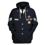 Gearhomies Personalized Tops US Air Force Service Dress Uniform