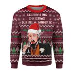 Merry Christmas Gearhomies Unisex Christmas Sweater Celebrating Christmas During Pandemic