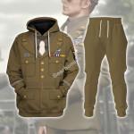 Gearhomies Tracksuit Hoodies Pullover Sweatshirt U.S General WWII Historical 3D Apparel