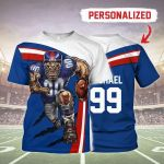 Gearhomies Personalized T-Shirt NY Giants Football Team 3D Apparel