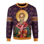 Gearhomies Unisex Sweatshirt St. Nicholas 3D Apparel