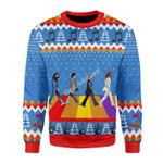 Merry Christmas Gearhomies Unisex Christmas Sweater The Beatles Hippie 3D Apparel