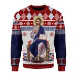 Gearhomies Unisex Sweatshirt Jesus Evlogon Greek Byzantine Orthodox 3D Apparel
