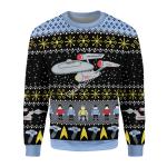 Gearhomies Christmas Unisex Sweater Star Trek Ugly Christmas 3D Apparel