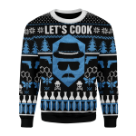 Merry Christmas Gearhomies Unisex Christmas Sweater Let's Cook