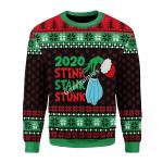 Merry Christmas Gearhomies Unisex Christmas Sweater Stink Stank Stunk 2020 3D Apparel