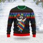 Merry Christmas Gearhomies Unisex Ugly Christmas Sweater Jesus Ah Men LGBTQ+ 3D Apparel