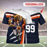 Gearhomies Personalized Unisex T-Shirt Chicago Bears Football Team 3D Apparel
