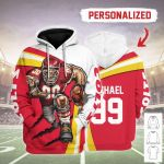 Gearhomies Personalized Unisex Tracksuit Hoodies Kansas City Chiefs Football Team 3D Apparel