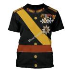 Gearhomies Unisex T-Shirt Grand Duke of Luxembourg 3D Apparel