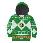 Gearhomies 3D Kid Tops Pullover Sweatshirt Green Power Rangers