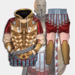 Gearhomies Tracksuit Hoodies Pullover Sweatshirt Spartan Hoplite Armour Historical 3D Apparel