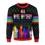 Merry Christmas Gearhomies Unisex Christmas Sweater All Vote Matters 3D Apparel
