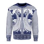Merry Christmas Gearhomies Unisex Christmas Sweater Viking Boat 3D Apparel