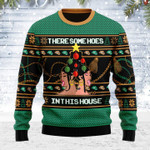 Merry Christmas Gearhomies Unisex Ugly Christmas Sweater There Is A Christmas Hos In This House 3D Apparel