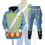Gearhomies Unisex Tracksuit Hoodies Pullover Sweatshirt Napoleonic of the French Hussars  Historical 3D Apparel