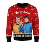 Merry Christmas Gearhomies Unisex Christmas Sweater Beam Me Up Santa