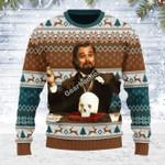 Merry Christmas Gearhomies Unisex Ugly Christmas Sweater Leo DiCaprio Django Unchained Merry Chrismas 3D Apparel