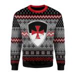 Merry Christmas Gearhomies Unisex Christmas Sweater Knigh Templar 3D Apparel