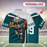 Gearhomies Personalized Unisex Hawaiian Shirt Philadelphia Eagles Football Team 3D Apparel