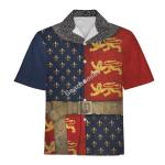 Gearhomies Unisex Hawaiian Shirt Henry V of England Historical 3D Apparel