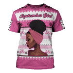 Gearhomies Personalized Name T-shirt September Girl I'm Not Getting Old I Am Just Becoming A Classic 3D Apparel