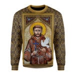 Gearhomies Christmas Sweater St Francis of Assisi 3D Apparel