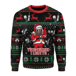 Merry Christmas Gearhomies Unisex Christmas Sweater Thor Drinking Beer 3D Apparel