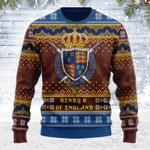Merry Christmas Gearhomies Unisex Ugly Christmas Sweater Henry V 3D Apparel