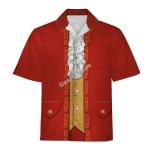Gearhomies Unisex Hawaiian Shirt Mozart Historical 3D Apparel