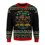 Merry Christmas Gearhomies Unisex Christmas Sweater Crochet Keep My Hand Busy
