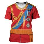 Gearhomies Unisex T-Shirt Prince William 3D Apparel