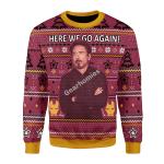 Merry Christmas Gearhomies Unisex Christmas Sweater Here We Go Again 3D Apparel