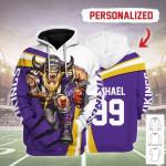 Gearhomies Personalized Unisex Tracksuit Hoodies Minnesota Vikings Football Team 3D Apparel