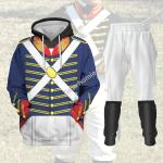 Gearhomies Tracksuit Hoodies Pullover Sweatshirt War of 1812 (1812-1815) US Army Historical 3D Apparel
