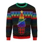 Merry Christmas Gearhomies Unisex Christmas Sweater LGBTQ+ Christmas Tree 3D Apparel