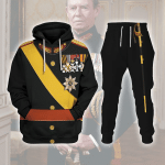 Gearhomies Tracksuit Hoodies Pullover Sweatshirt Grand Duke of Luxembourg Historical 3D Apparel