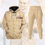 Gearhomies Tracksuit Hoodies Pullover Sweatshirt US General WWII James H. Doolittle  Historical 3D Apparel